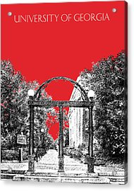 University Of Georgia - Georgia Arch - Red Acrylic Print by DB Artist