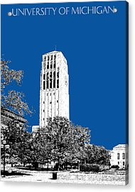 University Of Michigan - Royal Blue Acrylic Print by DB Artist