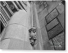 University Of Michigan Law Library Detail Acrylic Print by University Icons