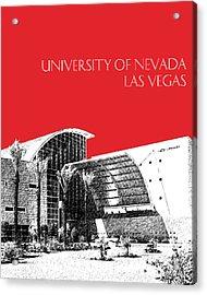 University Of Nevada Las Vegas - Red Acrylic Print by DB Artist