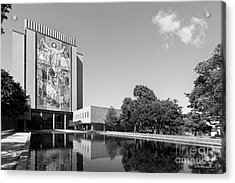 University Of Notre Dame Hesburgh Library Acrylic Print by University Icons