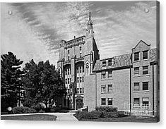 University Of Notre Dame Morrissey Hall Acrylic Print by University Icons