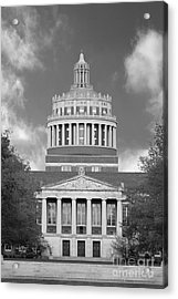 University Of Rochester Rush Rhees Library Acrylic Print by University Icons