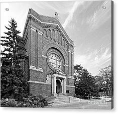 University Of St. Thomas Chapel Of St. Thomas Aquinas Acrylic Print by University Icons