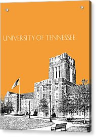 University Of Tennessee - Orange Acrylic Print by DB Artist