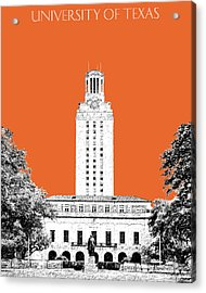 University Of Texas - Coral Acrylic Print by DB Artist