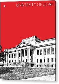 University Of Utah - Red Acrylic Print by DB Artist