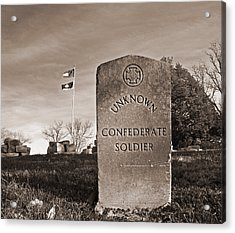 Unknown Soldier Acrylic Print by Steven  Michael