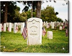 Unknown U.s. Soldier Acrylic Print by Scott Pellegrin
