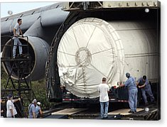 Acrylic Print featuring the photograph Unloading A Titan Ivb Rocket by Science Source