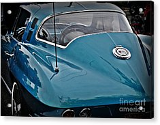 Unmistakeable Tail 65 Corvette Stingray Acrylic Print by JW Hanley