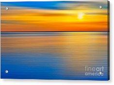 Unseen Sunset - A Tranquil Moments Landscape Acrylic Print by Dan Carmichael