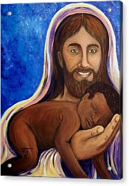 Unto You A Godly Son Is Given Acrylic Print by Pamorama Jones