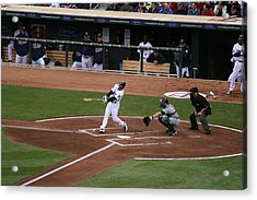 Up At Bat Acrylic Print by Jaymes Grossman