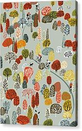 Uphill Acrylic Print by Eliza Southwood