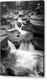 Upper Ammonoosuc Falls Black And White Acrylic Print by Brett Pelletier