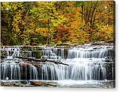 Upper Cataract Falls On Mill Creek Acrylic Print by Chuck Haney