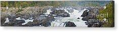 Upper Great Falls Panorama Acrylic Print by Benjamin Reed