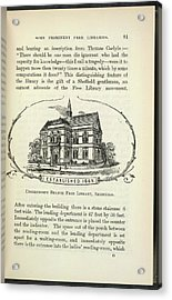 Upperthorpe Branch Free Library Acrylic Print by British Library
