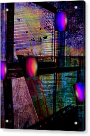 Urban Complexities Acrylic Print by Shirley Sirois