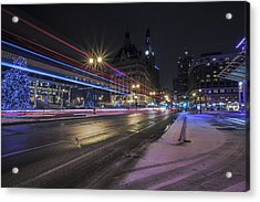 Urban Holiday  Acrylic Print by CJ Schmit