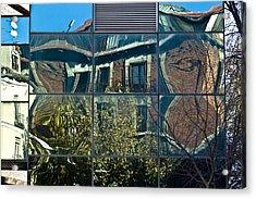 Urban Reflections Madrid Acrylic Print by Frank Tschakert