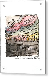 Urban Sunset Acrylic Print by Aruna Samivelu