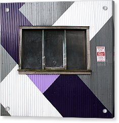 Urban Window- Photography Acrylic Print by Linda Woods