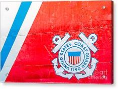 Us Coast Guard Emblem - Uscgc Ingham Whec-35 - Key West - Florida Acrylic Print by Ian Monk