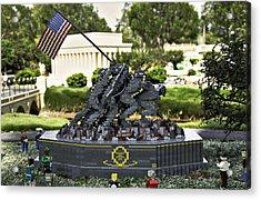 Us Marine Corps War Memorial Acrylic Print by Ricky Barnard