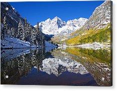 Usa, Colorado, Early Snow Near Aspen Acrylic Print by Ron Dahlquist