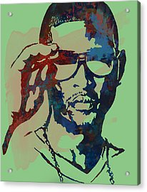 Usher Raymond Iv  - Stylised Pop Art Sketch Poster Acrylic Print by Kim Wang
