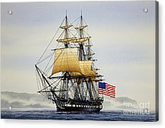 Uss Constitution Acrylic Print by James Williamson