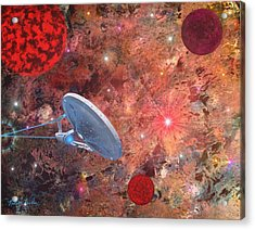U.s.s Enterprise -orion  Acrylic Print by Michael Rucker