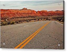Utah Highway Acrylic Print by Benjamin Yeager