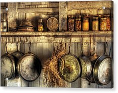 Utensils - Old Country Kitchen Acrylic Print by Mike Savad