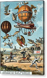 Utopian Flying Machines 19th Century Acrylic Print by Science Source