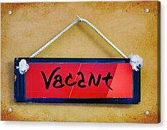 Vacant Acrylic Print by Nikolyn McDonald