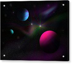 Vacuum Of Space Acrylic Print by Ricky Haug