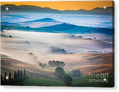 Val D'orcia Enchantment Acrylic Print by Inge Johnsson