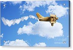 Valentine Plane Acrylic Print by Amanda Elwell