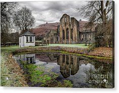 Valle Crucis Abbey Acrylic Print by Adrian Evans
