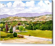 Valley Center California Acrylic Print by Mary Helmreich