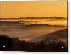 Valley Fog Acrylic Print by Bill Wakeley