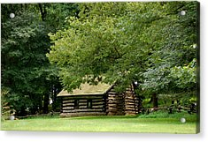 Valley Forge Cabin Acrylic Print by Sherlyn Morefield Gregg
