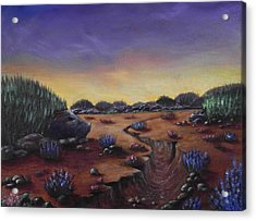 Valley Of The Hedgehogs Acrylic Print by Anastasiya Malakhova