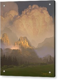 Valley Of The Shadow Of Life Acrylic Print by Dieter Carlton
