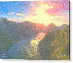 Valley Serenity Acrylic Print by Aindriu G