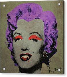Vampire Marilyn Variant 3 Acrylic Print by Filippo B