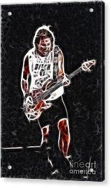 Van Halen-93-mike-gc23-fractal Acrylic Print by Gary Gingrich Galleries